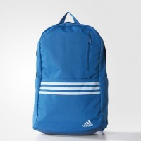 Sports backpack Adidas Versatile 3-Stripes Blue