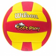 Volleyball ball Wilson Super Soft Play Red