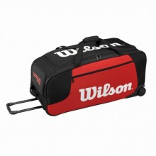 Tennis bag Wilson Wheeled Travel Duffel Red/Blk