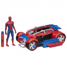 Playset Hasbro Marvel Spider-Man Homecoming Spider-Man With Spider Racer B9703