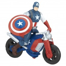 Action Figure Hasbro Marvel Avengers Captain America with Motorcycle 6 inch B9940