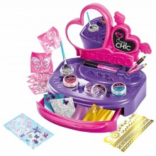 Makeup Set for Girls Clementoni Crazy Chic Tattoo Lab CL 15316