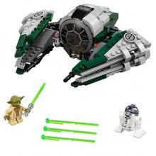 Building Bricks Lego Star Wars Yoda's Jedi Starfighter LE 75168