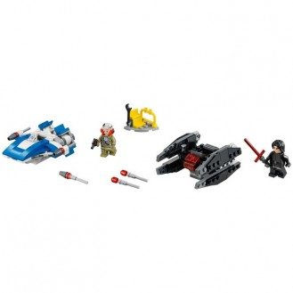 Building Bricks Lego Star Wars A-Wing vs. TIE Silencer Microfighters LE 75196