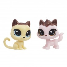 Figures Hasbro Littlest Pet Shop Frosting Frenzy BFFs Crumpet Shortfur and Sugarberry Fluffcat E0399