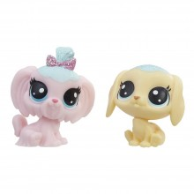 Figures Hasbro Littlest Pet Shop Frosting Frenzy BFFs Pastry Beaglet and Jammy Lapdog E0399
