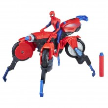 Playset Hasbro Marvel Spider-Man 3-in-1 Spider Cycle E0593