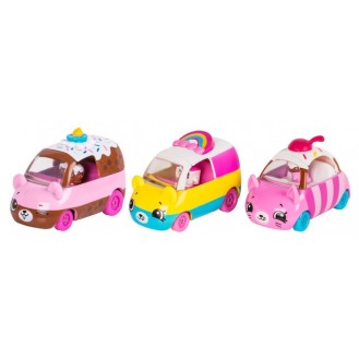 Playset Moose Toys Shopkins Series 1 Cutie Cars 3 Pack Bumper Bakery ME 56611