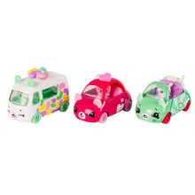 Playset Moose Toys Shopkins Series 1 Cutie Cars 3 Pack Candy Combo ME 56611