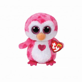 Soft Toy Ty Inc. Beanie Boos Pink Penguin Juliet MR 36865