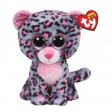 Soft Toy Ty Inc. Beanie Boos Pink/Grey Leopard Tasha MR 37038