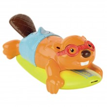 Bath Toy Tomy Aqua Fun Surfin' Beaver TM 72032