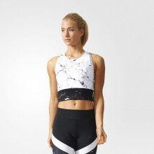 Sports Women`s Bra Adidas Marble Speed Crop 150
