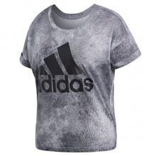Sports Women`s T-Shirt Adidas Essential Logo Print 336