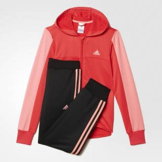 Sweatsuit womens Adidas Hooded Track Suit Red 4ad8c1d70b