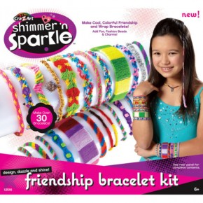 Creative Set Cra Z Art Shimmer N Sparkle Make Your Own Friendship Bracelet Kit 12516