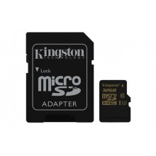 Micro SD 32GB Kingston + SD adapter SDCG/32GB