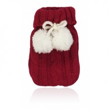 Red Pom Pom hand NPW Warmer