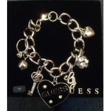 Silver bracelet with multi charms