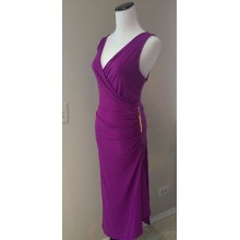 Dress Purple Asy Hem Gold Zipper