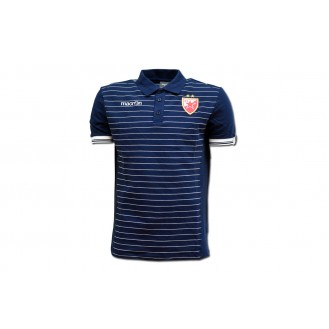 Macron Polo Blue T-Shirt FC Red Star 2017/2018